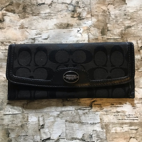 Coach Handbags - Coach black signature wallet